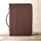 LuxLeather Names of Jesus Bible Cover, Large