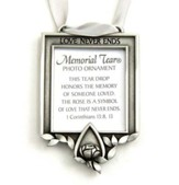 Memorial Tear Photo Ornament