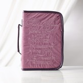 Embroidered Serenity Prayer Bible Cover, Purple, Large