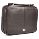 Two-fold LuxLeather Bible Cover Organizer, Brown, Large