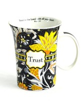 Paisley Mug with Coaster, Trust