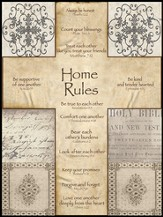 Home Rules Cross Mounted Print
