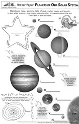 Planets of Our Solar System Poster Papers (Pack of 30)