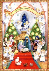 O Holy Night: Greeting Card Advent Calendar