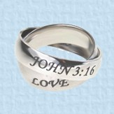 Axis Rings, John 14:6 & John 3:16, Size 7