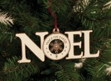 Noel, Peace on Earth Ornament, White