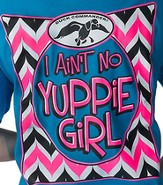 I Ain't No Yuppie Girl Shirt, Blue, Youth Large