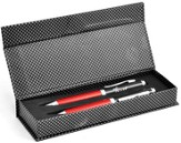 Carbon Fiber Pen Set, Trust, Red, Gift Boxed