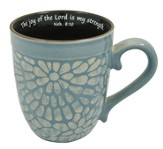 The Joy of the Lord Mug, Nehemiah 8:10, Blue