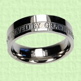 Saved By Grace Scripture Band, Size 7