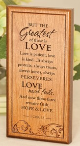 1 Corinthians 13 Engraved Wooden Plaque