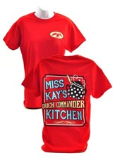 Duck Dynasty, Miss Kay's Kitchen Shirt, Red, Small