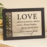 Love Always Protects Screen Print Wall Print