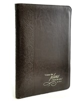 LuxLeather Folder Jeremiah 29:11, Brown