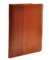 LuxLeather Folder, Amazing Grace, Tan