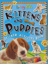 Busy Kids Sticker Book Kitten & Puppy