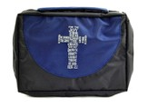 Cross Ballistic Bible Cover Organizer, Blue, Large