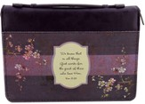 We Know That All Things Bible Cover, Purple, Medium
