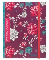 2015 Weekly 18-Month Engagement Planner, Floral