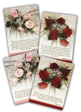 Roses and Lace Wedding Cards, Box of 12