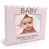 Personalized, Baby Photo Frame for 4X6, Pink