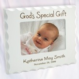 Personalized, God's Special Gift, White Photo Frame