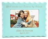 Personalized, Sisters By Heart, Blue Photo Frame