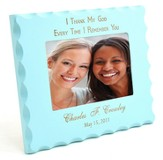 Personalized, Remembrance Blue Photo Frame
