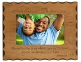Personalized Wood Photo Frame, Jeremiah 17:7