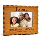 Personalized, Family Photo Frame for 4X6, Natural Wood