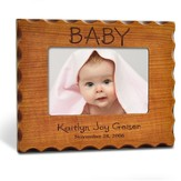 Personalized, Baby Photo Frame for 4X6, Natural Wood