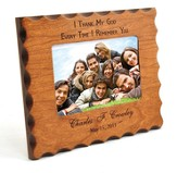 Personalized, Remembrance Natural Wood Photo Frame