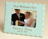 Personalized, Our Wedding Day Photo Frame -Blue