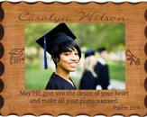 Personalized, Graduation Photo Frame, Natural Wood