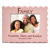 Personalized, Family Photo Frame for 4X6, Pink