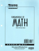 BJU Math 7: Fundamentals of Math, Tests Answer Key