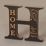 Letter H Plaque, Home