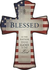 Blessed is the Nation Cross