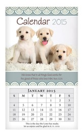 2015 Mini Magnetic Wall Calendar, Puppies