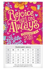 2015 Mini Magnetic Wall Calendar, Rejoice Always