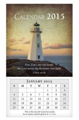 2015 Mini Magnetic Wall Calendar, Lighthouse
