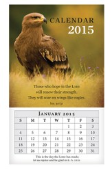 2015 Mini Magnetic Wall Calendar, Wings Like Eagles