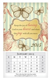 2015 Mini Magnetic Wall Calendar, Keep the Joy