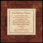 Firefighter's Prayer, Mounted Canvas Print
