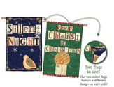 Silent Night, Keep Christ In Christmas, Two-Sided Flag, Large