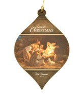 Personalized, Bulb Ornament, Nativity Scene