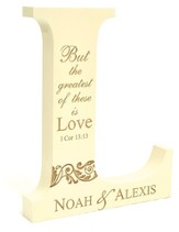 Personalized, Mini Letter L, But The Greatest of These is Love