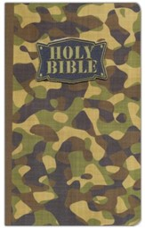 NKJV Camouflage Bible, cloth softcover, green - Slightly Imperfect