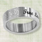 True Love Waits Floral Vine Ring, Size 8