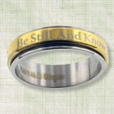 Be Still and Know Spinner Ring, Size 8